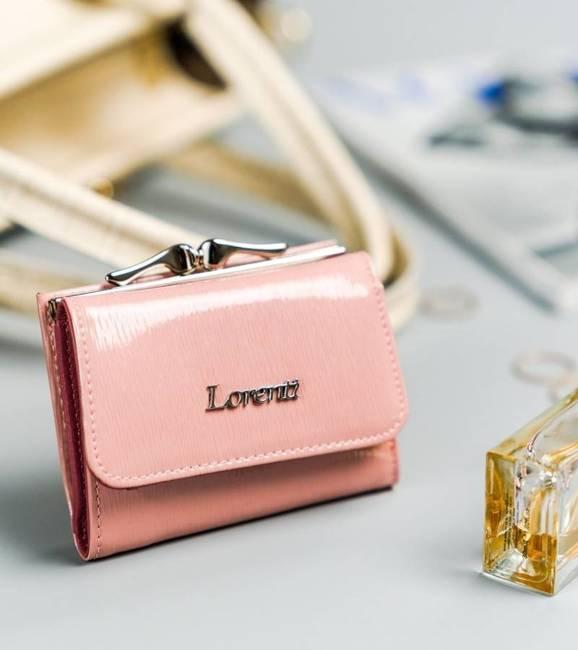 Portfel damski różowy Lorenti 55287-SH NAPI SALMON