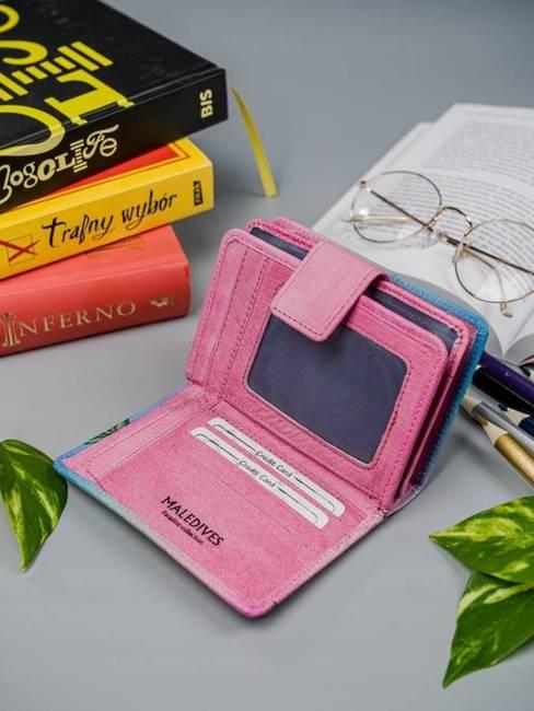 Portfel damski różowy Rovicky R-N109-ART-04 PINK