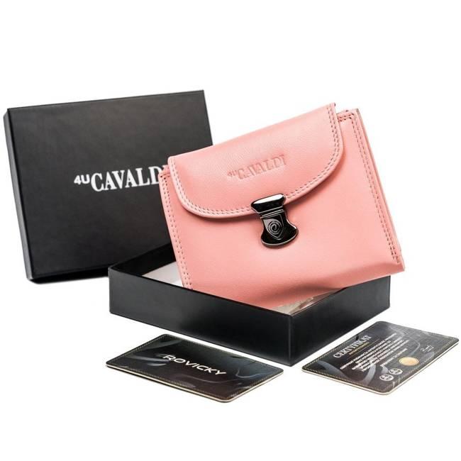 Portfel damski różowy z klapką Cavaldi RD-19-GCL-6429 SALMO