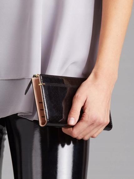 Portfel damski slim wallet czarny Milano Design K1209