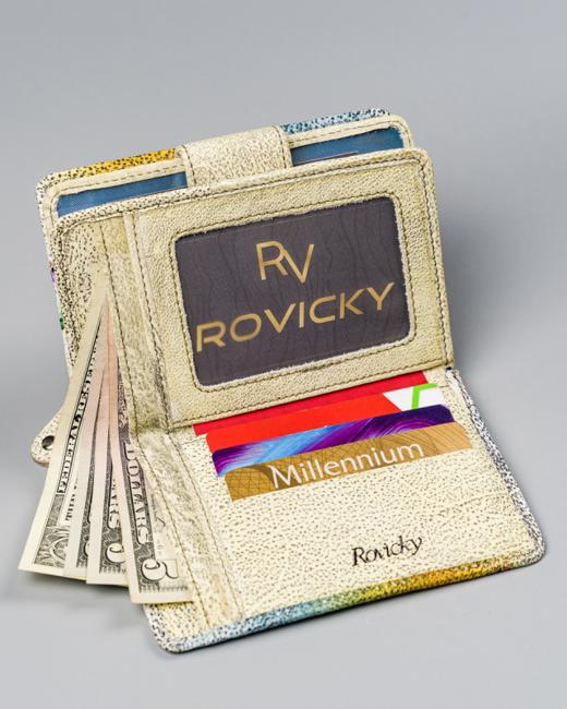 Portfel damski żółty Rovicky R-N109-ART-11 YELLOW