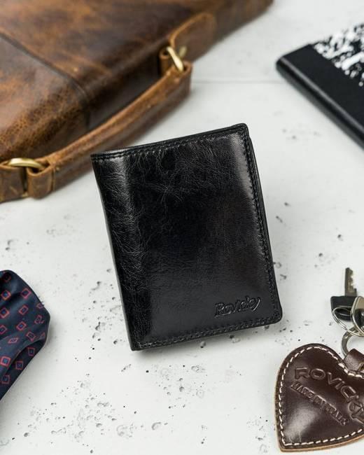 Portfel etui na karty czarne Rovicky N1910-RVTK BLACK