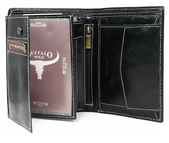 Portfel męski Buffalo Wild czarny RM-04-BAW