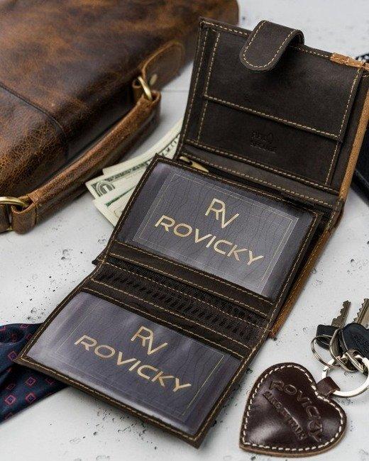 Portfel męski brązowy Always Wild  N4L-R-RFID BROWN+TAN