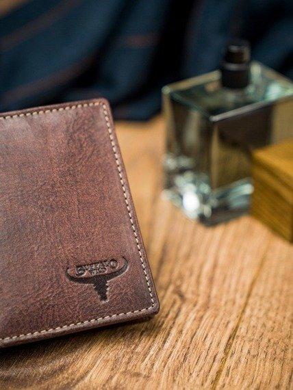 Portfel męski brązowy Buffalo Wild N1185-HP-4918 RUST