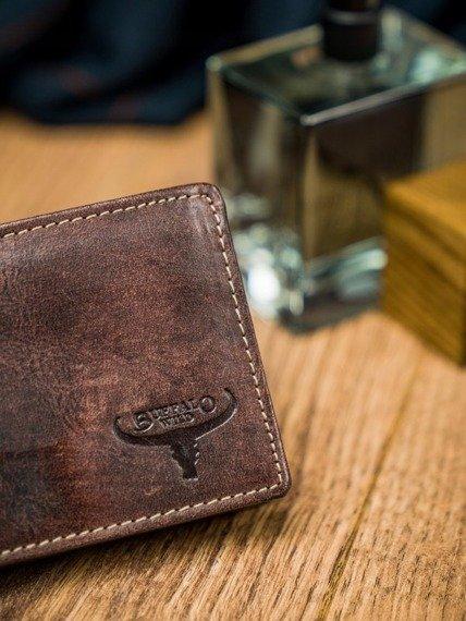 Portfel męski brązowy Buffalo Wild  N1189-HP-5090 RUST