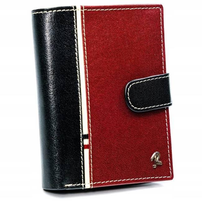 Portfel męski czarno-czerwony Rovicky  326L-RBA-D BLACK-RED