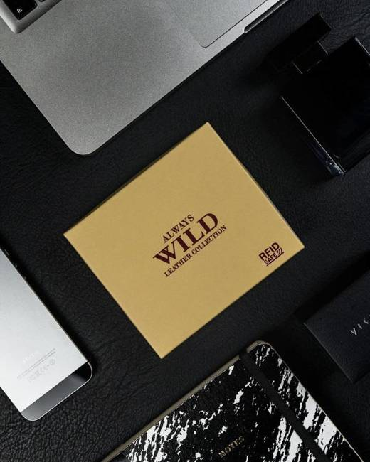 Portfel męski czarny Always Wild N4-SCR-3094 BLACK