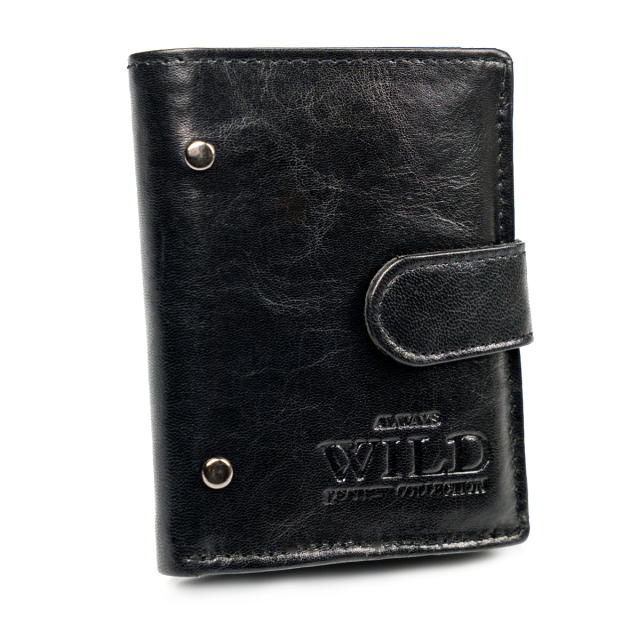 Portfel męski czarny Always Wild N9001L-VTK-N BLACK