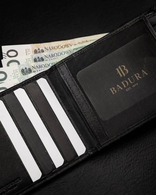 Portfel męski czarny Badura B-N27661-CAW BLACK