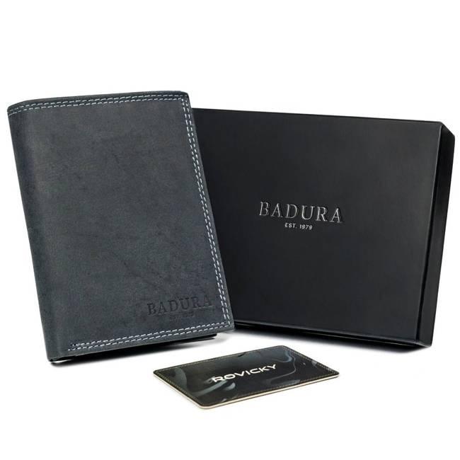 Portfel męski czarny Badura N4-MH-BA BLACK