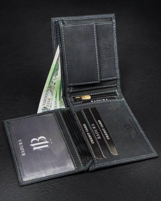 Portfel męski czarny Badura N7-MH-BA BLACK