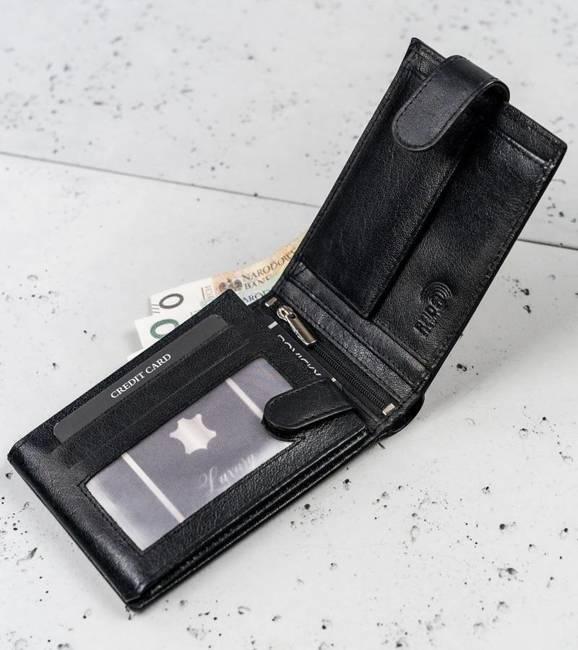 Portfel męski czarny Cavaldi N992L-NAD-BOX-1496 B