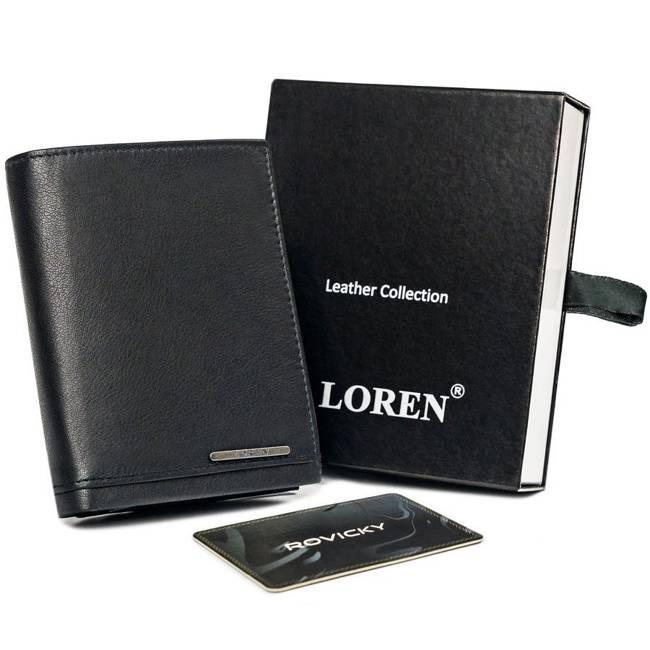 Portfel męski czarny Loren  GRM-70-01 BLACK