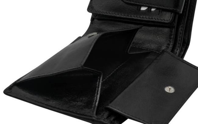 Portfel męski czarny Rovicky GWR-05-R-9263 BLACK