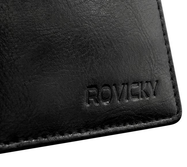 Portfel męski czarny Rovicky GWR-06-ARI-9362 BLAC
