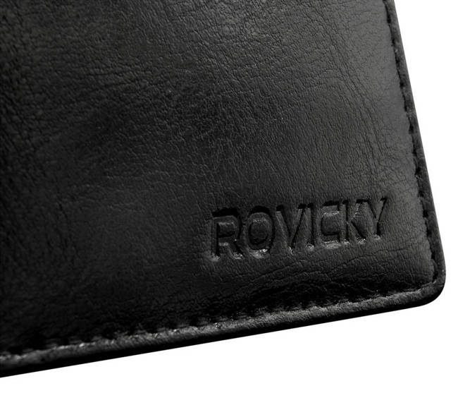 Portfel męski czarny Rovicky GWR-07-ARI-9379 BLAC