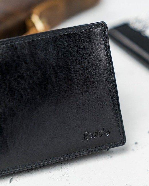 Portfel męski czarny Rovicky N1906-RVTK BLACK