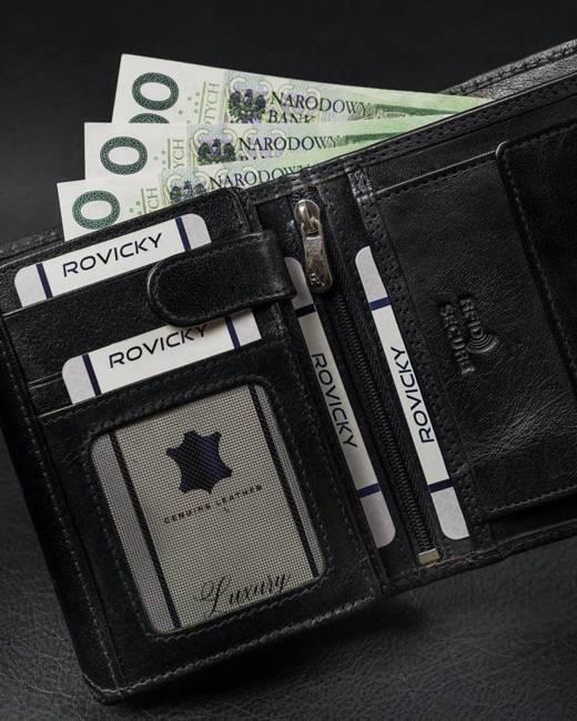 Portfel męski czarny Rovicky RV-7680272-8633 BL