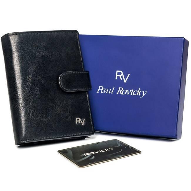 Portfel męski czarny Rovicky RV-7680278-5-8695 BL