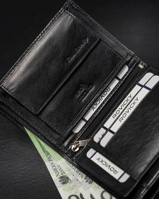 Portfel męski czarny Rovicky RV-7870-8602 BLACK