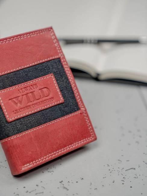 Portfel męski skórzany Always Wild N4-JEANS czerwony