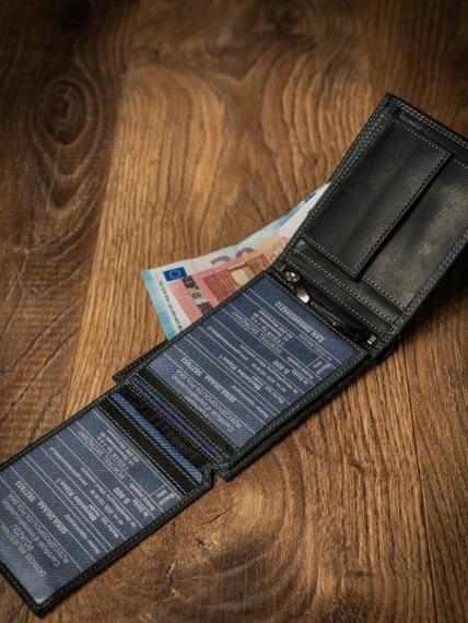 Portfel męski skórzany RFID Buffalo Wild N992-B-MHU czarny