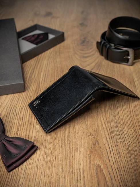 Portfel męski skórzany Rovicky czarny PC-023-BAR