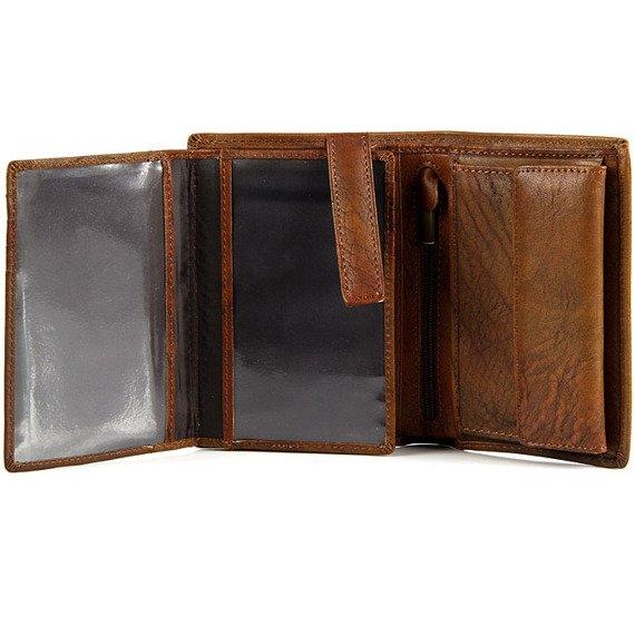 Portfel skórzany DAAG Alive P-07 vintage koniakowy w pudełku