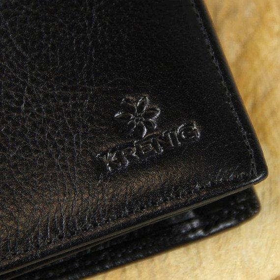 Portfel skórzany męski KRENIG Classic 12028 czarny