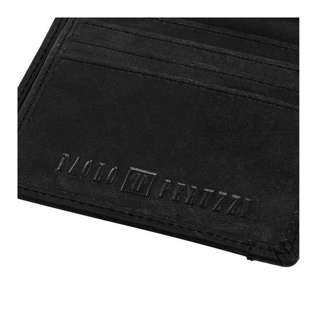 Portfel skórzany męskie RFID brązowy Paolo Peruzzi T-04