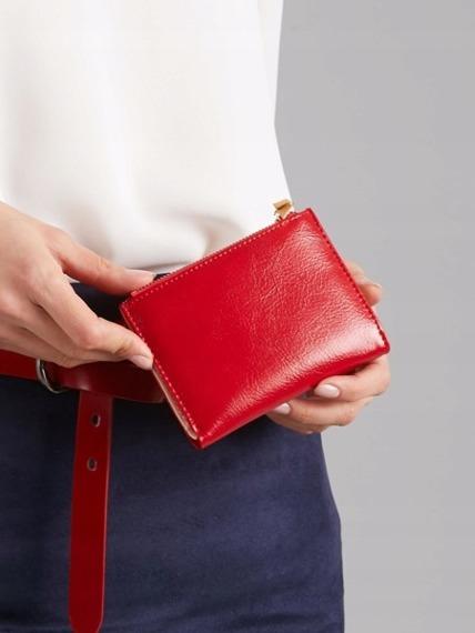 Portmonetka damska czerwona Milano Design K1212