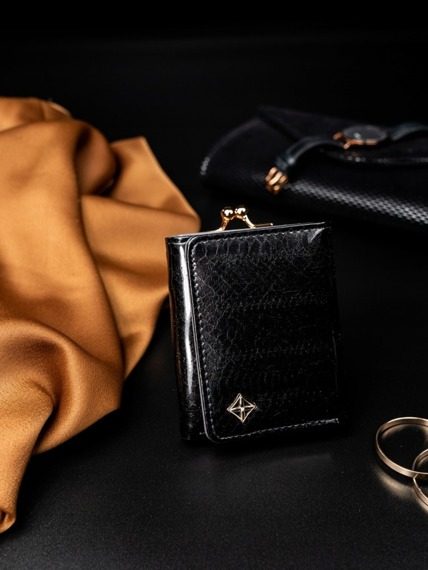 Portmonetka damska na bigiel czarna Milano Design