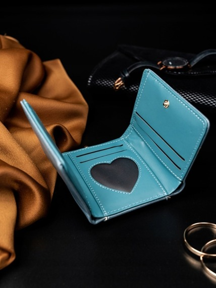 Portmonetka damska na bigiel niebieska Milano Design