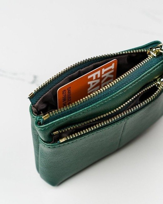 Portmonetka damska zielona Milano Design SF1863-KLP GREEN