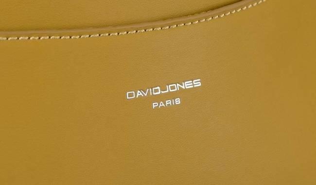 Saszetka damska nerka musztardowa David Jones CM5707 MUSTARD