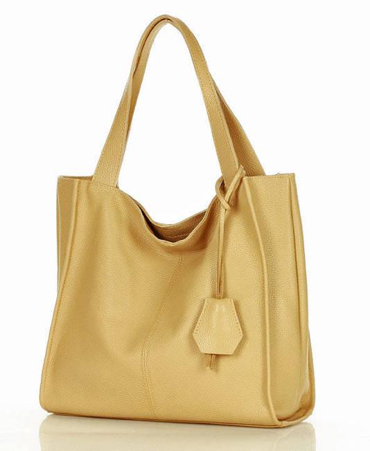 Shopper bag MARCO MAZZINI beżowy s139k
