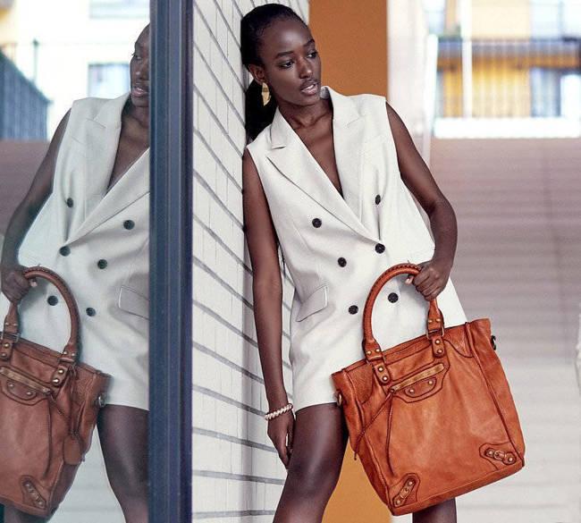 Shopper bag MARCO MAZZZINI camel  v170a
