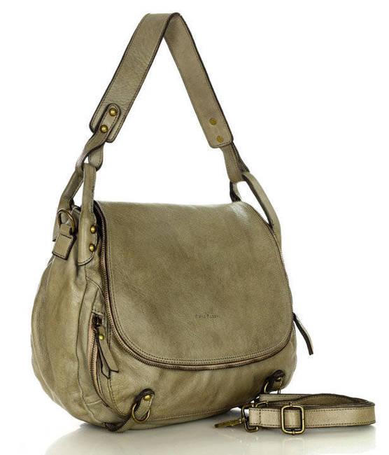 Shopper bag Marco Mazzini ciemny beż khaki v116c