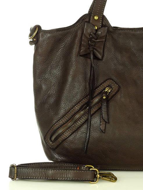 Shopper bag c. brązowy MARCO MAZZINI v91e