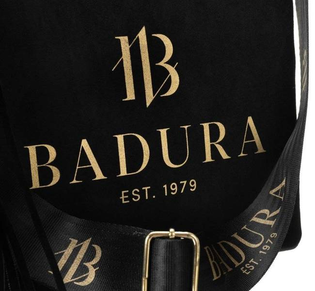 Shopper bag czarny z zamszową kieszenią Badura  T_D165CZ_CD