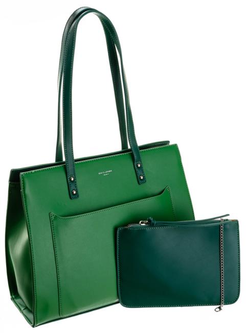 Shopper bag zielony David Jones CM5677 GREEN