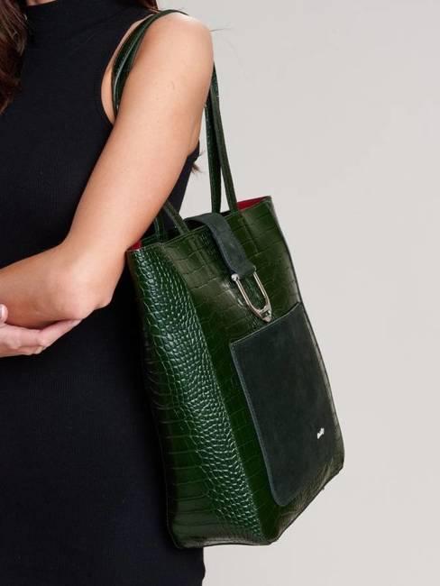 Shopper bag zielony Rovicky TWR-105 CRO ZIELONY