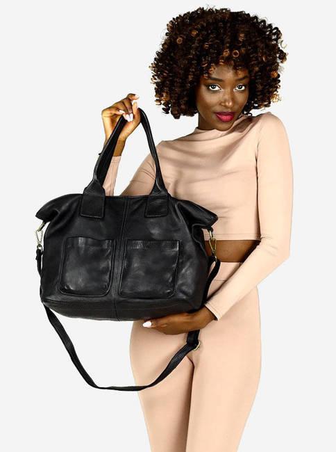 Shopper damski MARCO MAZZINI czarny v169a
