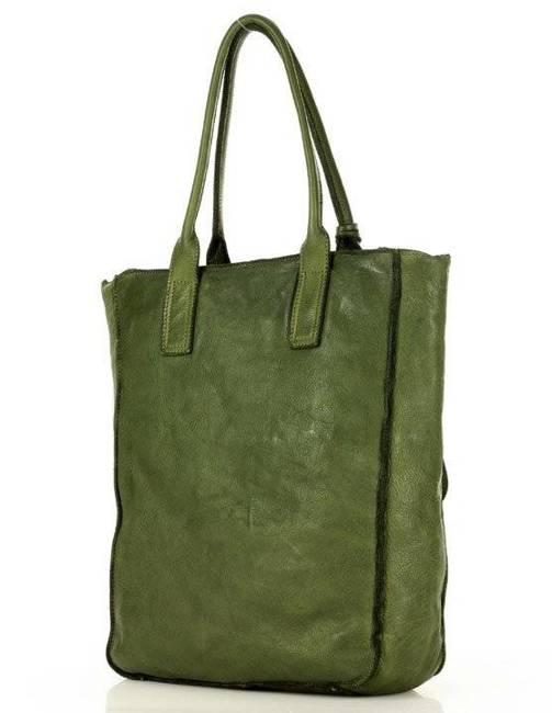 Shopper damski MARCO MAZZINI  zielony v108d