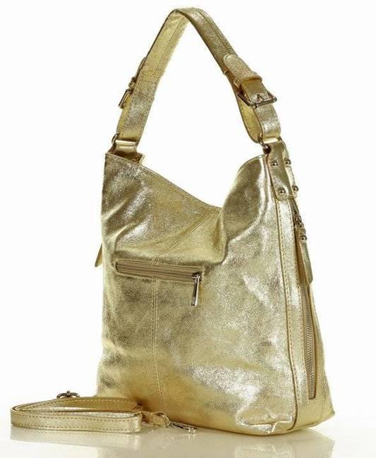 Shopper damski MARCO MAZZINI złota s229n