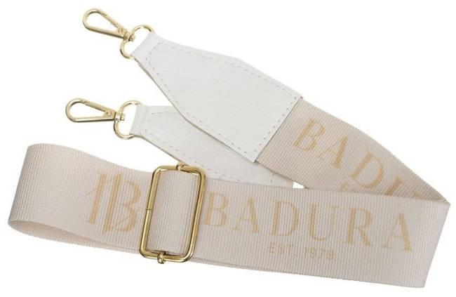 Shopper damski biało-złoty Badura T_D163BI/ZŁ_CD