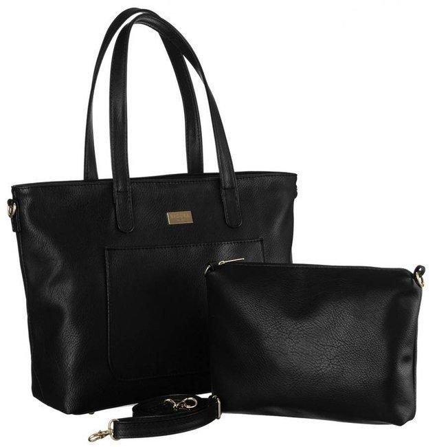 Shopper damski czarny Badura  BA/B26 AS BLACK