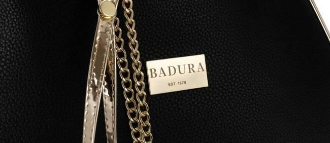 Shopper damski czarny ze złotymi wstawkami Badura T_D156CZ_CD