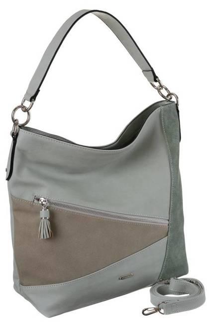 Shopper damski j. zielony David Jones 6286-2 L.GREEN